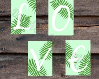Greenery Valentine's Day Banner Printable