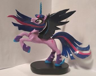 Princess Midnight Twilight My Little Pony MLP Custom Figurine sculpture handmade