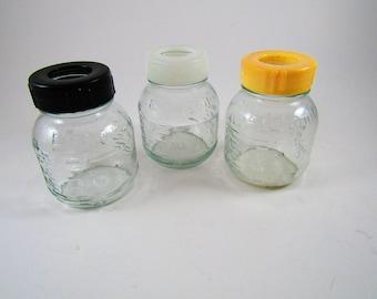 3 Vintage Glass Enfamil Baby Bottles 4oz