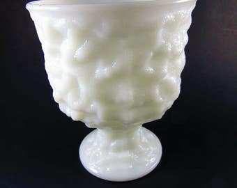 Vintage Milk Glass Vase Planter, E.O. Brody Co. M3000