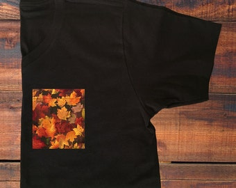 Fall Leaves Pocket V-Neck