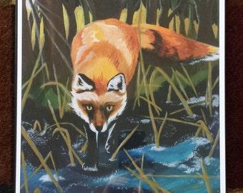 Dawn Fox - Art Print 12x18