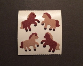 Sandylion vintage rare fuzzy brown pony stickers