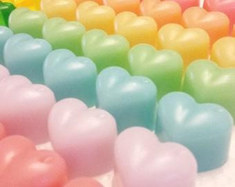20 mini heart soaps, 0.35oz, sweet soap, heart shaped soap, sweet soap, fruit soap, mini soap, party favor