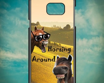Horsing Around Funny for Samsung Galaxy Note 3, Samsung Galaxy Note 4, Samsung Galaxy Note 5, Electronic Phone Case