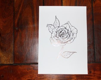 Foil print: Rose