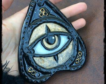 NEW PRICE planchette ouija third eye occult spiritism dark goth witch handmade