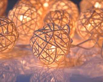 Rattan Balls, String Lights for Wedding, String Lights Bedroom, Rattan Ball String Lights, Fairy String Lights, String Lights Outdoor