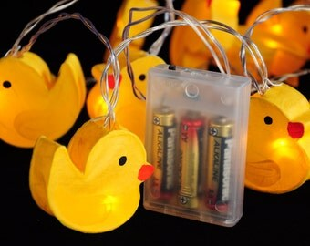 20 Ducks Decor Lantern Fairy String Lights Battery Led Lights Nursery Wall Decor Mobile for Girl Boy