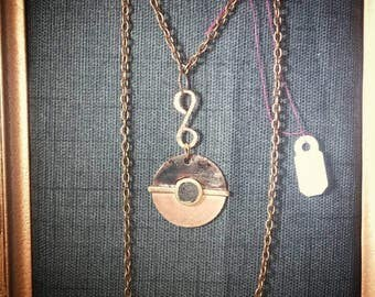 Necklace inspired by Pokeball