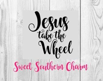 Jesus take the wheel svg - svg file - svg files - Christian svg - religious svg - lyrics svg file - cut file - cutting files - quote svg