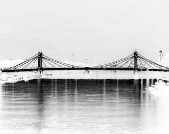 Albert Bridge London - Black and White