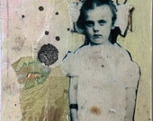 Mixed Media ACEO – Original Art Card – Little Girl ACEO - ATC – Affordable Small Art
