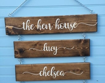 Hen House - Chicken Signs for Coop -  Chicken Sign - Coop Decor - Indoor or Outdoor - Rustic - Backyard Chickens - Chicken Decor