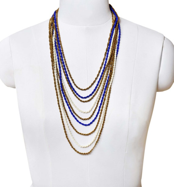 Boho Braided Multicolor Multistrand plaited woven Necklace