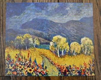 Vintage Print of Rosenberg's Painting 'Late Sunshine'