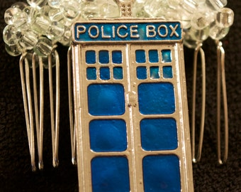 Tardis Wedding Hair Comb