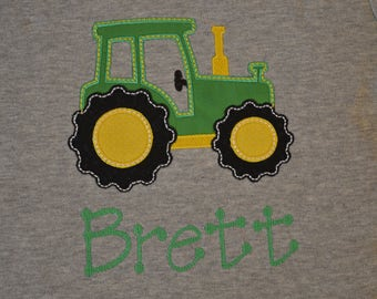 Tractor Applique Shirt- Portion of sales donated to Cure SMA
