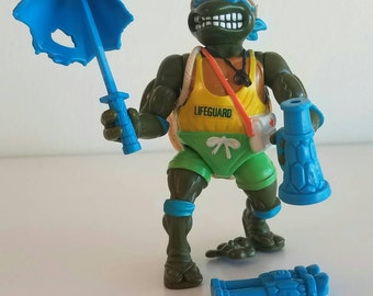 Lifeguard Leo Teenage Mutant Ninja Turtles TMNT action figure complete 1992