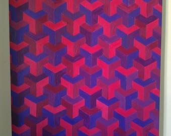 Geometric acrylic paint