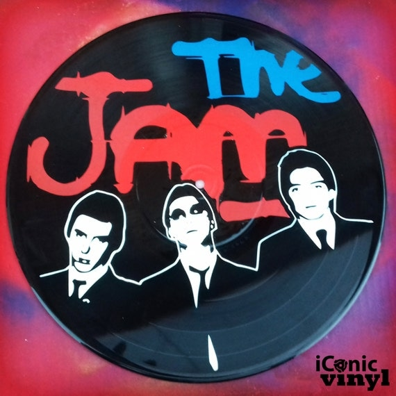The Jam hand-sprayed Vinyl Record