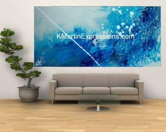 Rip tide, Acrylic Painting Print, Modern Art, Abstract Art