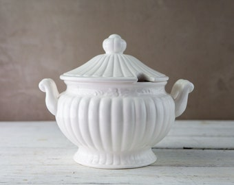 White Ceramic Soup Tureen-Food Photography Prop