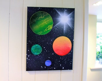 Planetary Wall Art 8x10 in