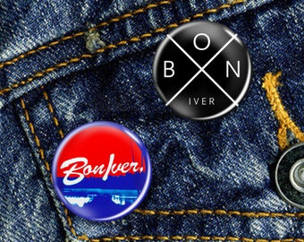 Bon Iver Justin Vernon Indie Rock Pin Button Badge Choice of 2 Badges