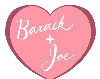 Barack & Joe sticker