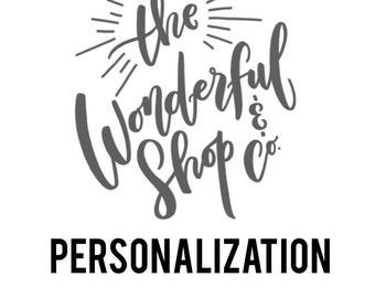 Personalization fee