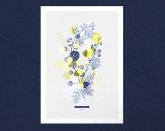 Botanical poster. Mimosa #PLANT - 2. -  Limited edition botanical & graphic poster. Wall decoration. Graphic print