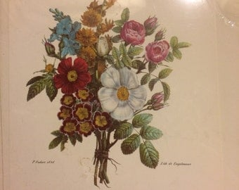 Two Bernard Picture Co. Flower Lithographs  Co. Inc