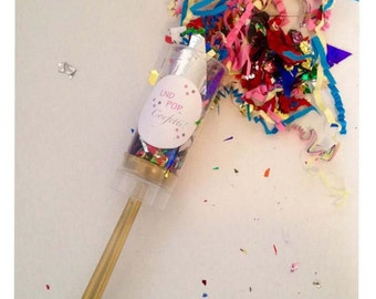 Rainbow Bright Confetti Popper