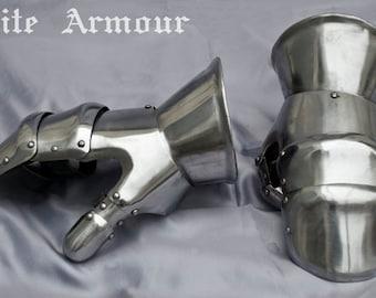Combat Mitten Gauntlets SCA LARP steel gauntlets medieval gauntlets fantasy gauntlets steel protection knight gauntlets LARP mitten armor