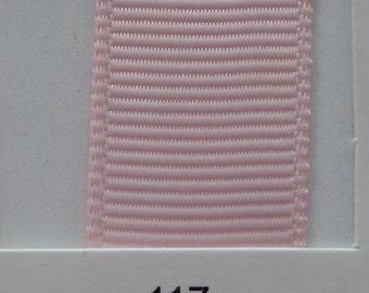 "3/8"" / 10mm Solid Grosgrain Ribbon LIGHT PINK #117 X 2 METERS"