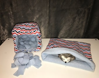 CUSTOM EVERYTHING SET. Cozy Cube, Snuggle Sack, and Nesting Fleece!