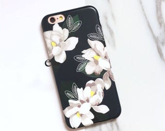 Floral phone case, white flower, dahlia, Amaryllis, iphone 6 case, iphone 6 plus case, iphone 7 case, iphone 7 plus case,