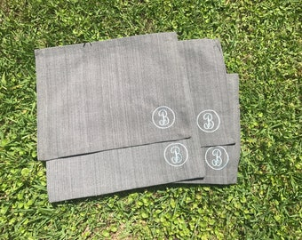 Set of 4 Placemats with Initial