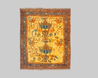 Antique Hand Knotted Persian Afshar 175x147cm