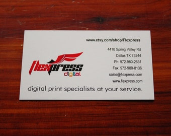 Custom 16 Pt C2S Business Cards, can be UVed (With Free Shipping)