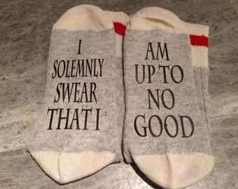 I Solemnly Swear That I ... Am Up To No Good (Socks)