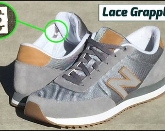 Lace Grapples - No Tie Shoelace Anchor System - Converts 8 Shoes to Minimal Lace Look