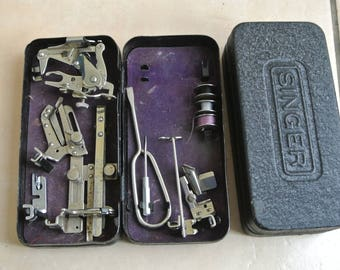 Singer Sewing Machine attachments Box with accessories