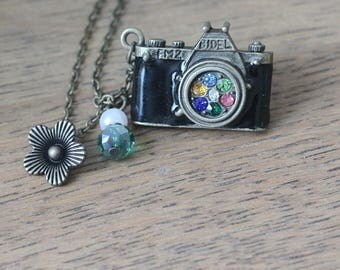 Camera necklace Photographer  jewelry