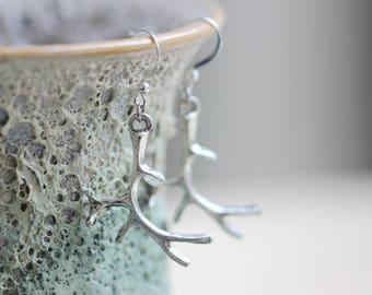 elk earrings deer jewelry antique gift