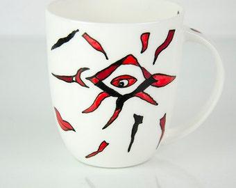 Good mood mug, coffee mug, teacup, deco mug, porcelain mug, porcelain mug