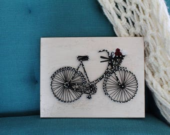 Cute Vintage Bike String Art