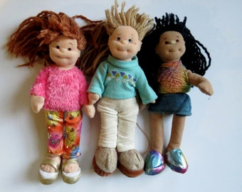 Ty Beanie Boppers  Set of 3 Collectible Dolls Jazzy Jessie, Snazzy Sabrina and Cool Cassidy Collectible Rag Dolls Original Ty Beanie