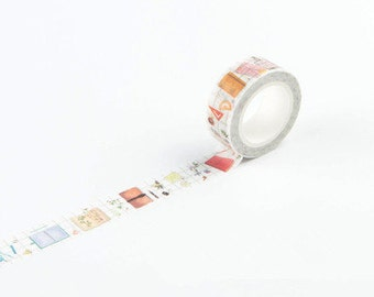 SUPPLIES Japanese Washi Tape, Masking Tape, Planner Stickers,Crafting Supplies,Scraping Booking,Adhesive Tape,Floral Washi Tape